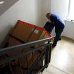 Stair climber moving 300kg medical equipment three flights of stairs