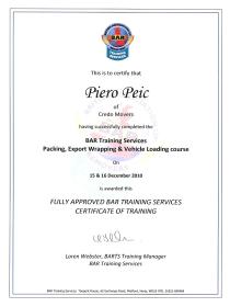 Credo movers - BAR certificate 02