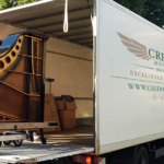 Antique Baby grand Piano move for restoration