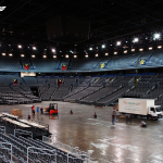Delivery & moving of basketball championship floor
